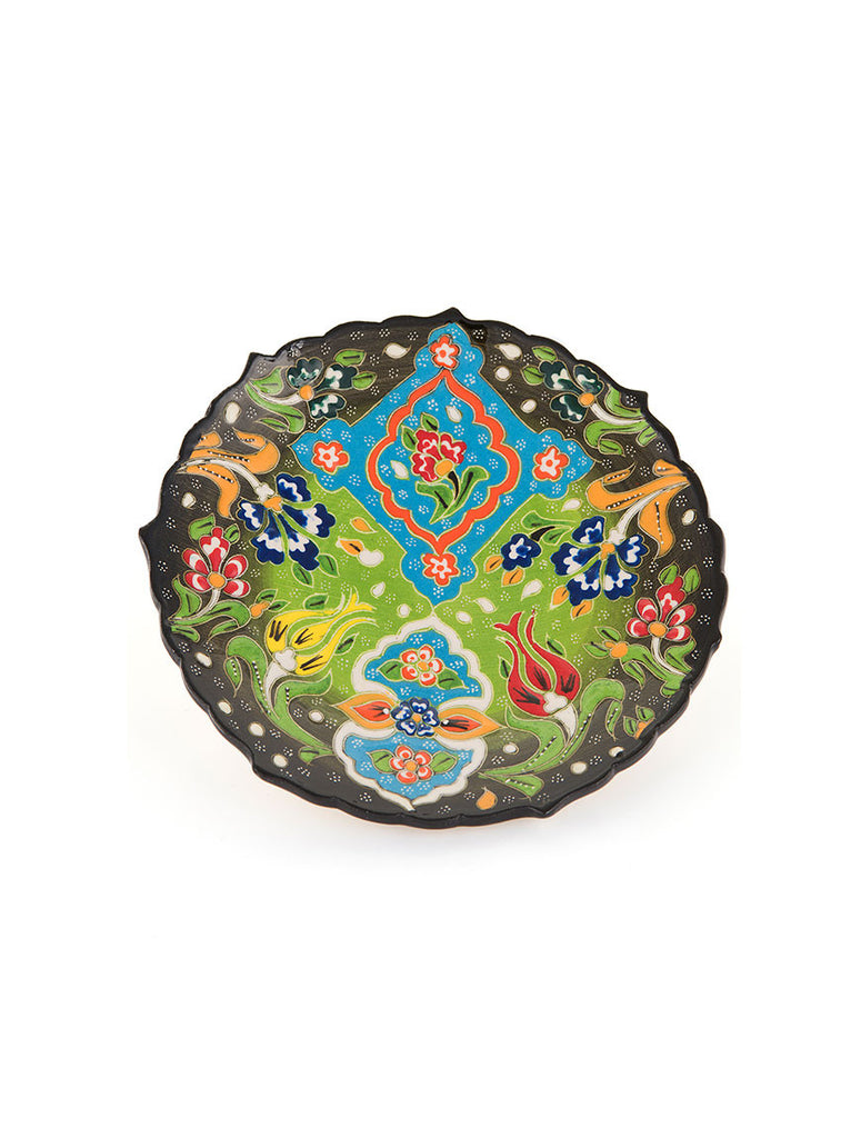 "Decorative Plate 7"" Light Green"