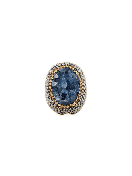 Druzy Ring - Blue Agate
