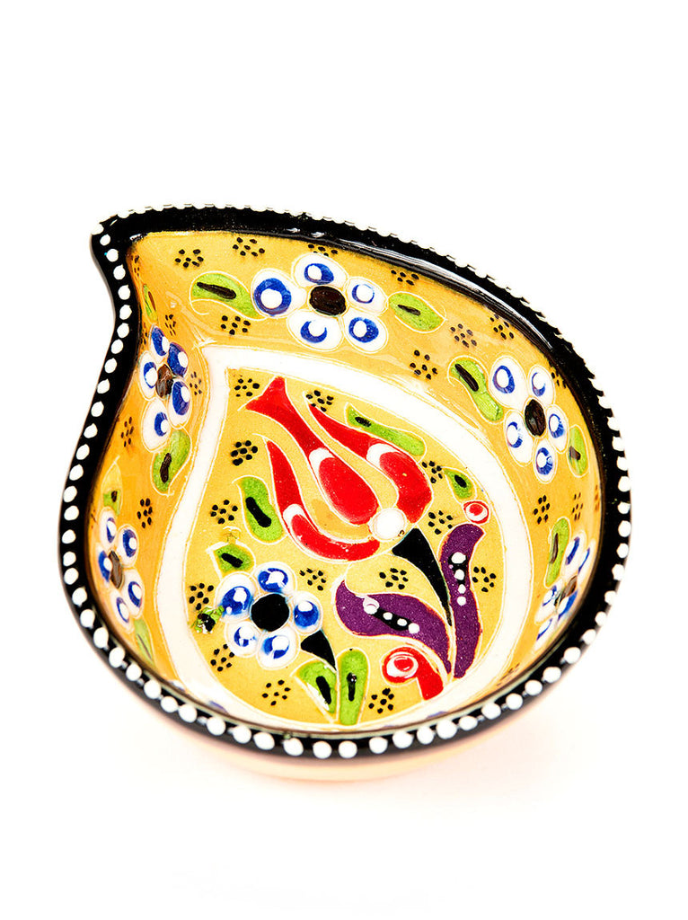"Hand Painted Bowl 4"" Yellow"