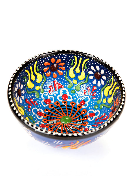 "Hand Painted Bowl 3"" Blue"