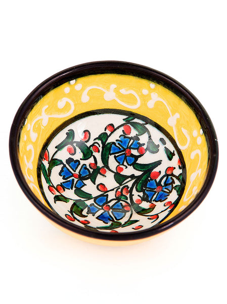 Hand Painted Milenyum Bowl - Yellow
