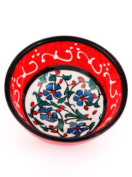 Hand Painted Milenyum Bowl - Red