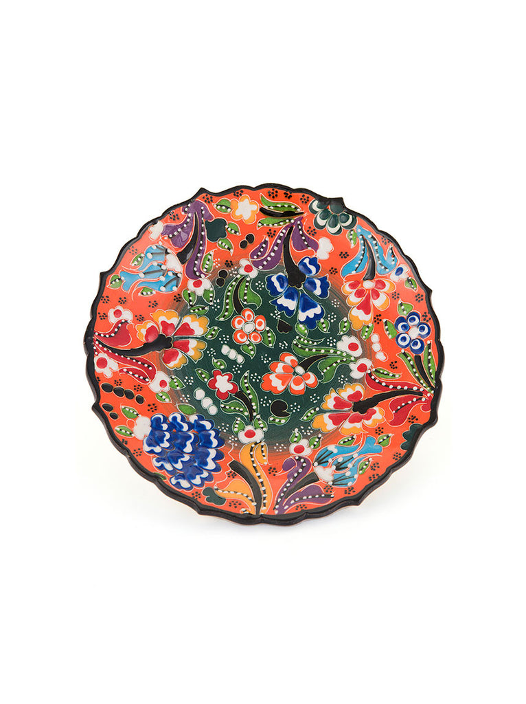 "Decorative Plate 7"" Orange"