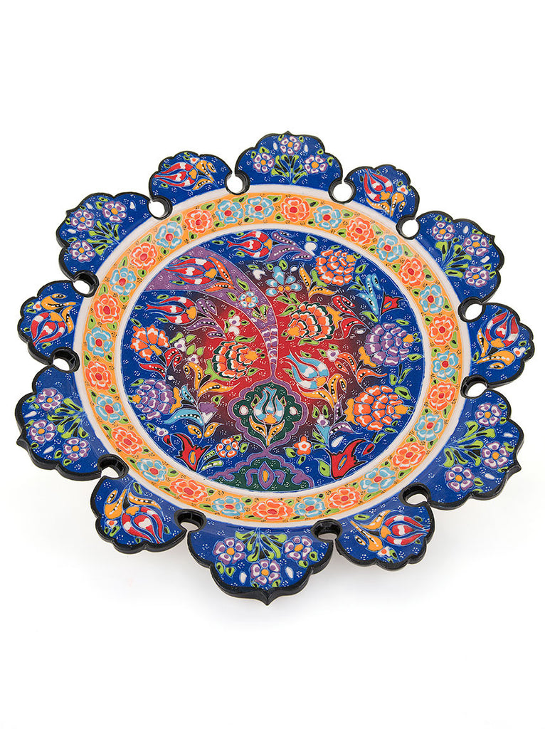 "Decorative Plate 11.5"" Dark Blue"