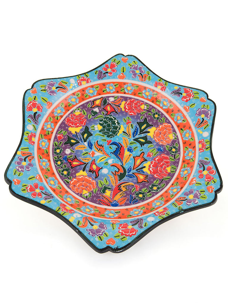 "Decorative Plate 11.5"" Light Blue"