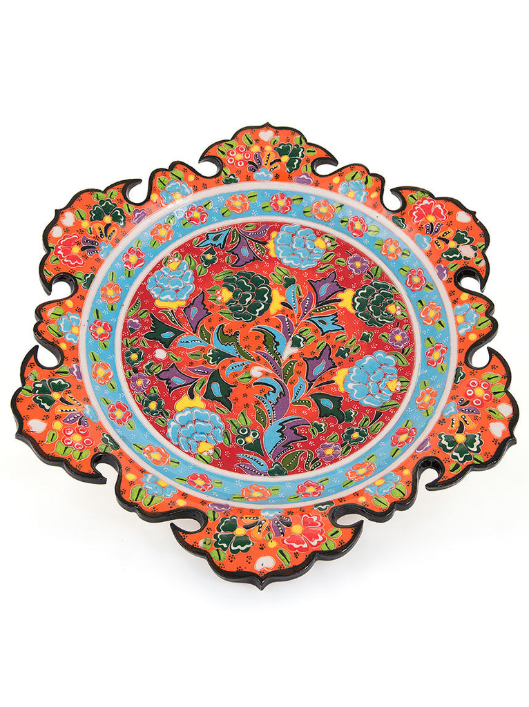 "Decorative Plate 11.5"" Orange"