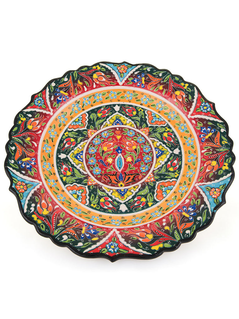 "Decorative Plate 12"" Dark Green"
