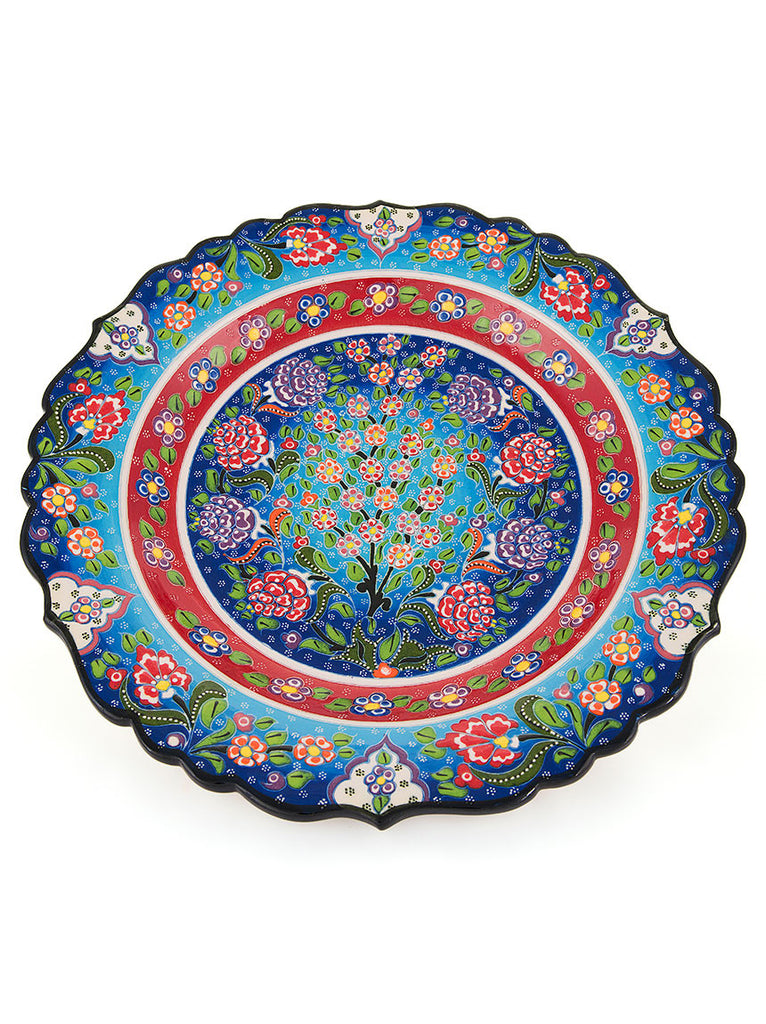 "Decorative Plate 12"" Light Blue"