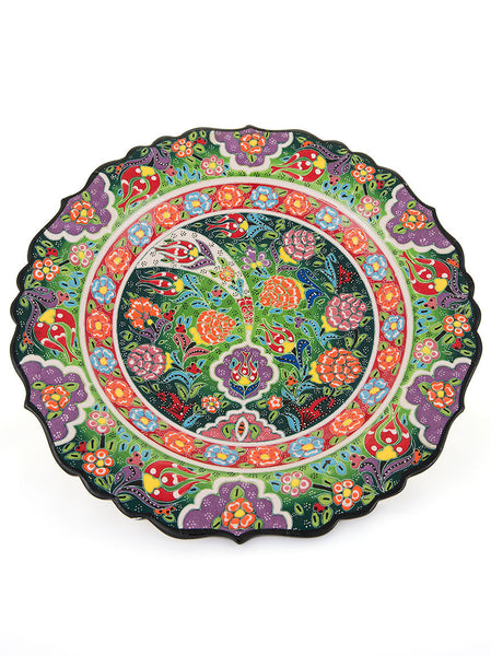 "Decorative Plate 12"" Light Green"