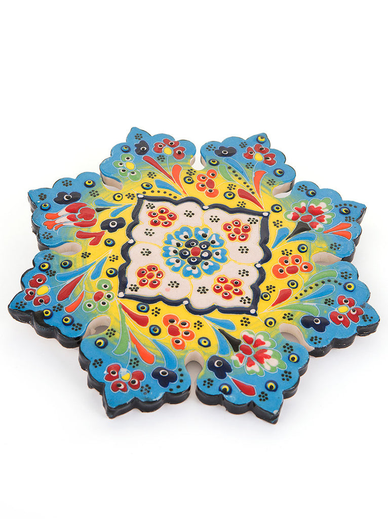 Hand Painted Trivet - Light Blue