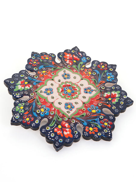 Hand Painted Trivet - Dark Blue