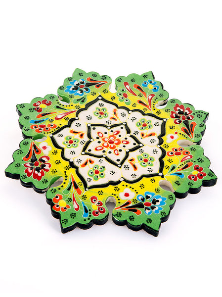 Hand Painted Trivet - Light Green