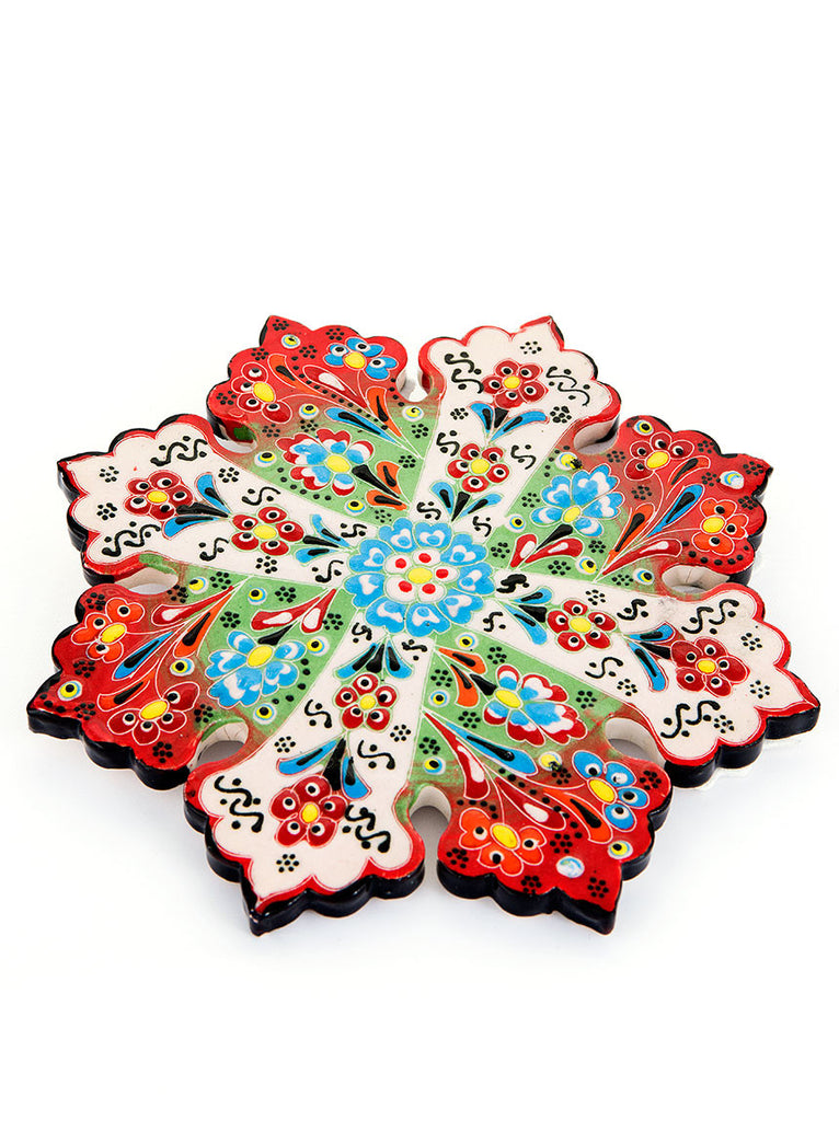 Hand Painted Trivet - Red