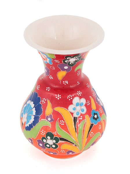 Decorative Vase, Red/Orange