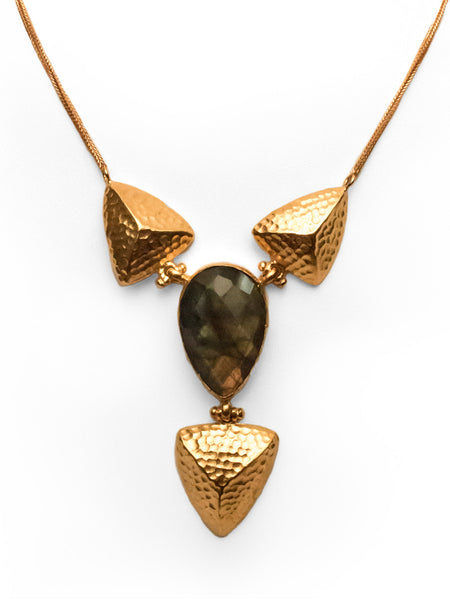 Bronze Necklace - 21ct gold plated
