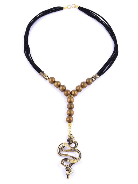 Necklace with Gold Metal Charm