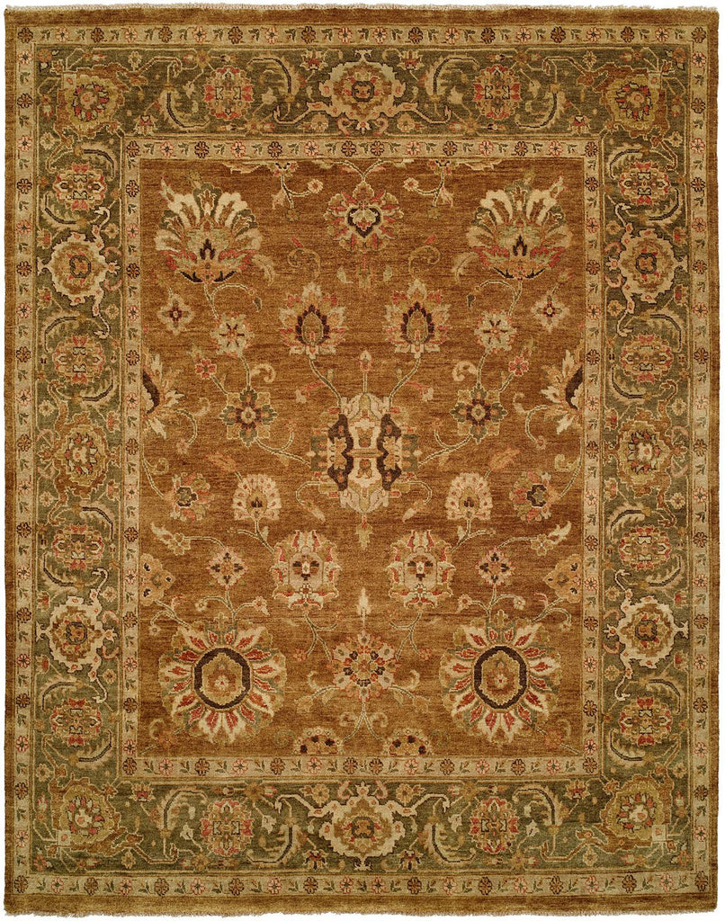 Oushak Rug LOU-452 Goldy Brown/Green