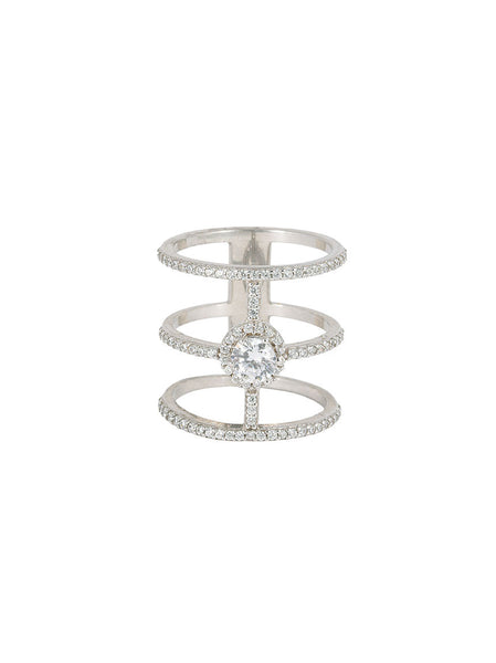 925 Silver Ring, 3 Tier
