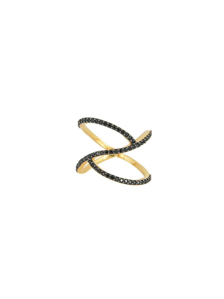925 Wave Ring, Gold