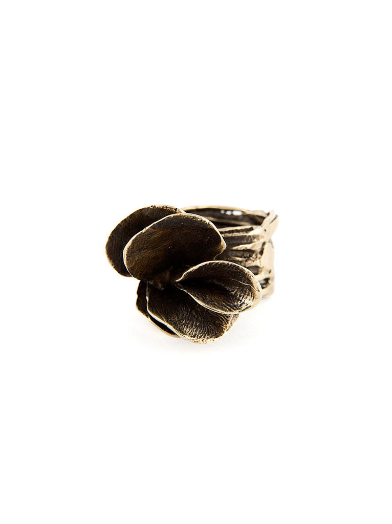 Statement Ring, Silver Metal