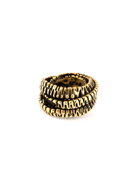 Statement Ring, Gold Metal