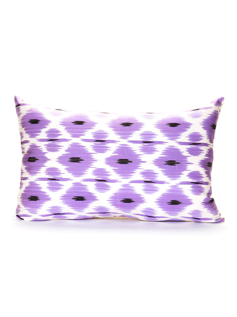 Silk Pillow Case, Purple and White