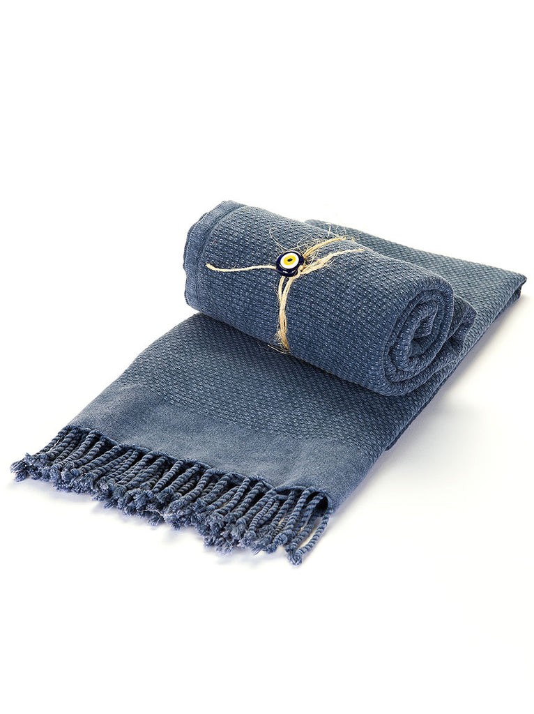 Turkish Bath Towel - Blue