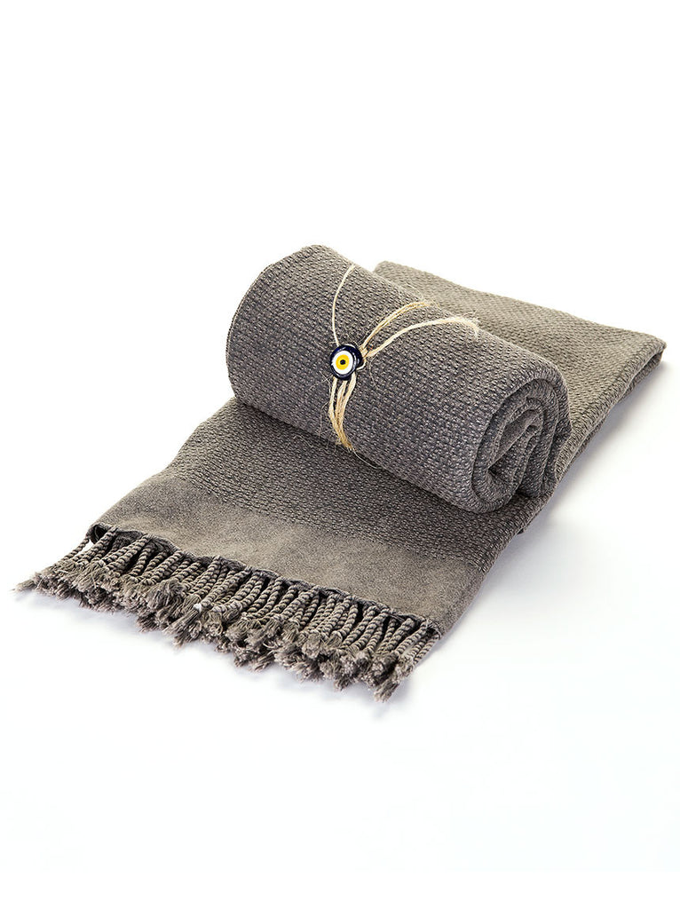 Turkish Bath Towel -  Grey