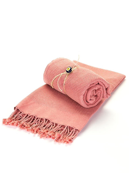 Turkish Bath Towel -  Pink