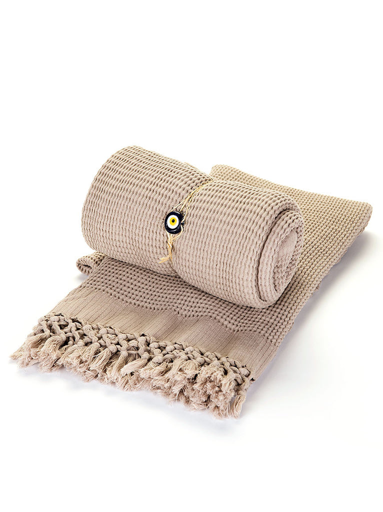Turkish Bath Towel -  Tan