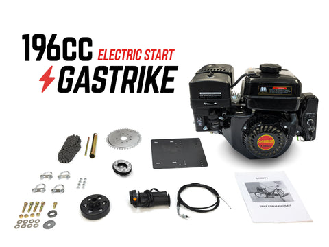 GasTrike 196cc Trike Engine Kit - Electric Start - Gasbike.net