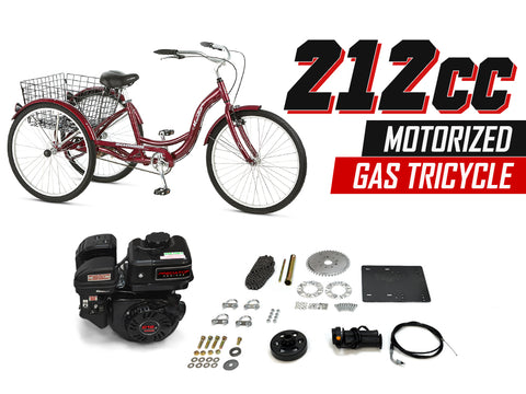 212cc Motorized Gas Tricycle - Gasbike.net
