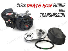 212cc Death Row Engine with Transmission - 4-Stroke