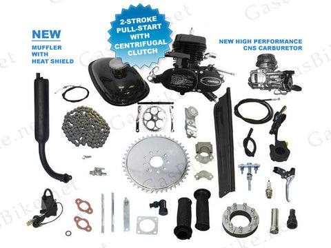 2010 SkyHawk Pull Start, Centrifugal Clutch, GT5-GGG-2 66cc/80cc, Bike Motor Kit, Black - Gasbike.net