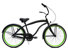 "Motorized Bicycle Greenline 3 A P M - Men 26"" ALUMINUM Internal 3-Speed Shimano NEXUS Beach Cruiser (Bike Only)"