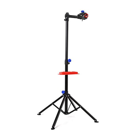 MVPOWER Pro Mechanic Bike Repair Stand Adjustable Height Bicycle Maintenance Rack Workstand With Tool Tray, Telescopic Arm Cycle - Gasbike.net