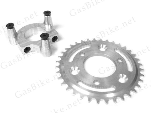 36 Tooth CNC Sprocket & Adapter Assembly - Gasbike.net