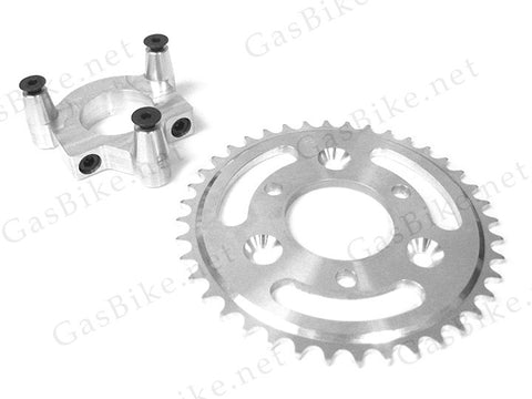 44 Tooth CNC Sprocket & Adapter Assembly - Gasbike.net
