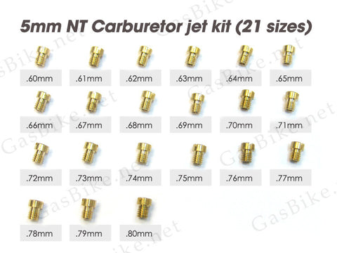 5mm NT Carburetor Jet Kit - Gasbike.net