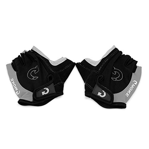 GEARONIC TM New Fashion Cycling Bike Bicycle Motorcycle Shockproof Foam PaddedOutdoor Sports Half Finger Short Gloves