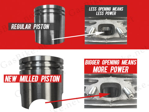 Milled Piston for 66cc/80cc - Gasbike.net