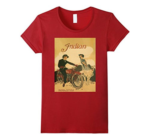 Vintage poster - Indian Motorcycles Retro T-Shirt - Gasbike.net