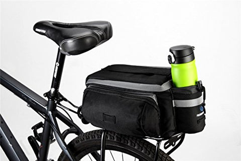 Runytek Bicycle Roswheel Rear Seat Trunk Bag Handbag Bag Pannier Black - Gasbike.net