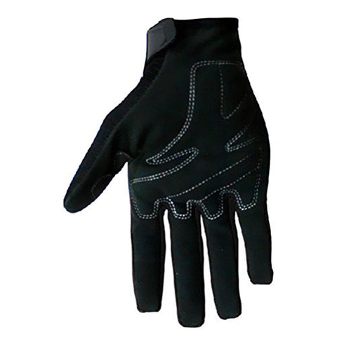 CRAZY AL'S SCOYCO MC24 Motorcycle Gloves Sports Protective Gear Shock Resistant Padded Full Finger Safety Breathable Motorcycle Gloves (M, Black)
