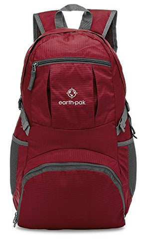 Earth Pak Backpack -Lightweight, Foldable, Durable Backpack for Hiking, Travel, Camping, Climbing, School - Day Pack & Carry On Backpack For Women, Men, Teens