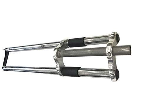 "Bicycle fork 26"" and 1 1/8"" headset Combo - triple tree NON suspension fork w/double shoulder-gas motorized bike"