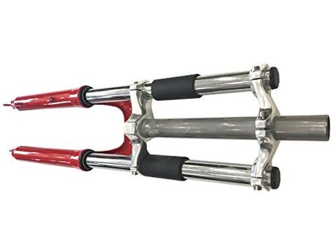 "Bicycle Red fork 26"" and 1 1/8"" headset Combo - triple tree suspension fork w/double shoulder-gas motorized bike - Gasbike.net"
