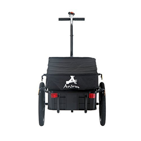 Aosom Enclosed Bicycle Cargo Trailer - Black - Gasbike.net