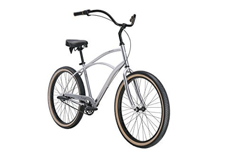 "Raleigh Bikes Men's Special 3 Cruiser Bike, 26""/One Size, Silver - Gasbike.net"