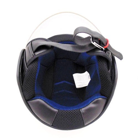 Motorcycle Scooter PILOT Open Face Helmet DOT - RED (XL) - Gasbike.net